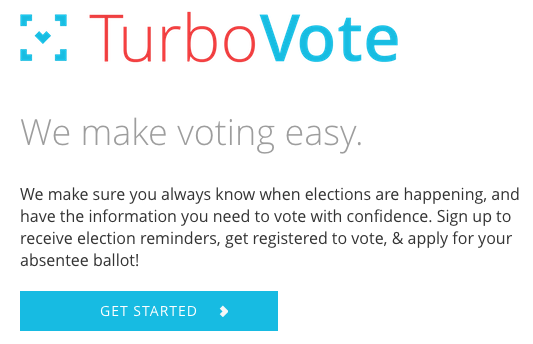 Sign up online to vote by mail